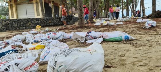 Sau bão số 13, bãi biển miền Trung bị sóng đánh tan tác ảnh 2
