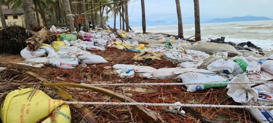 Sau bão số 13, bãi biển miền Trung bị sóng đánh tan tác ảnh 4