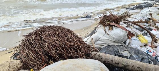 Sau bão số 13, bãi biển miền Trung bị sóng đánh tan tác ảnh 3