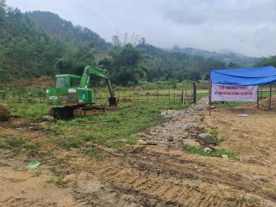 Khởi công khu tái định cư cho người dân vùng sạt lở núi Trà Leng ảnh 1