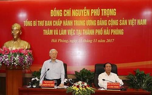 """Tổng Bí thư Nguyễn Phú Trọng: Ngăn chặn tình trạng """"chán Đảng, khô Đoàn, nhạt chính trị"""" ảnh 1"""