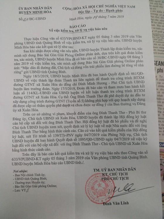 Cảnh cáo chủ tịch xã dùng vốn trái phiếu làm đường bê tông về nhà riêng ảnh 2