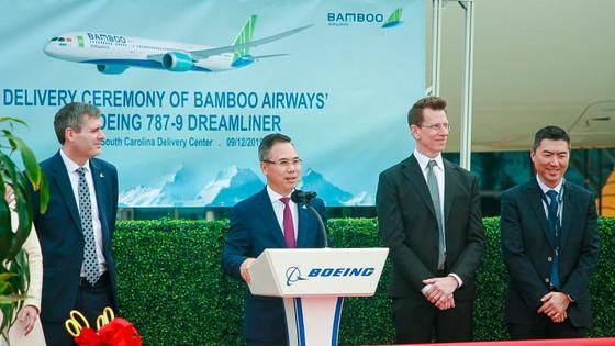 Máy bay Boeing 787-9 Dreamliner đầu tiên về với đội bay của Bamboo Airways ảnh 1