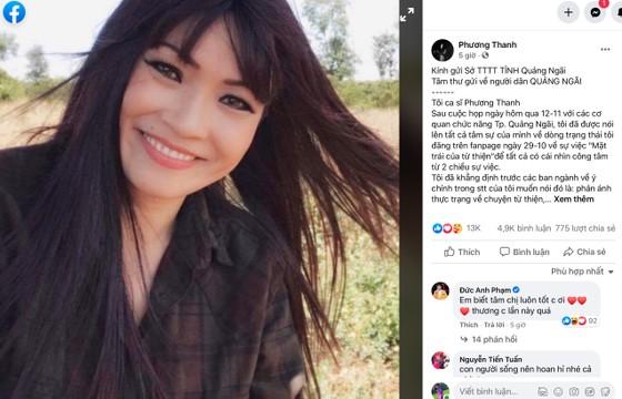 Phương Thanh xin lỗi người dân Quảng Ngãi sau phát ngôn gây tranh cãi về từ thiện ảnh 2