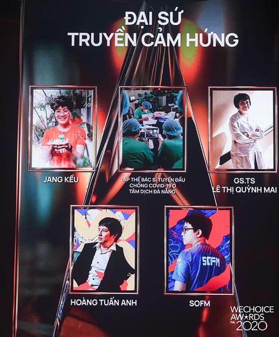 Thủy Tiên, Jack, MCK, Dế Choắt, Binz… được vinh danh tại WeChoice Awards 2020 ảnh 2