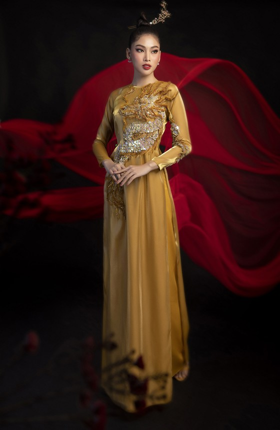 Hé lộ bản phác thảo trang phục dân tộc Á hậu Ngọc Thảo đem đến Miss Grand International 2020 ảnh 2