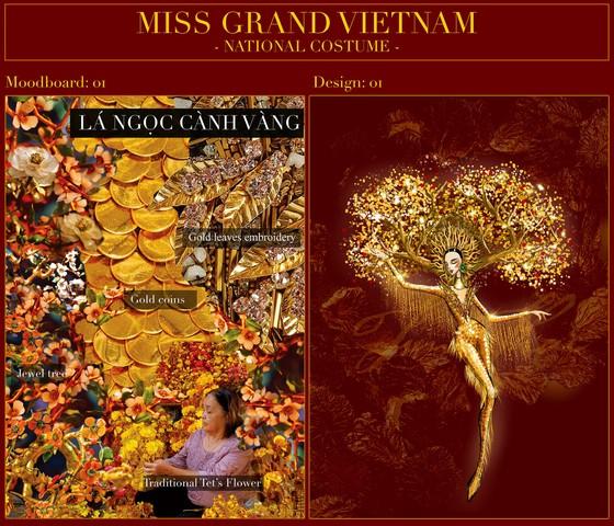 Hé lộ bản phác thảo trang phục dân tộc Á hậu Ngọc Thảo đem đến Miss Grand International 2020 ảnh 4