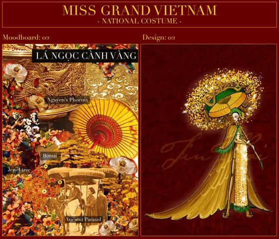 Hé lộ bản phác thảo trang phục dân tộc Á hậu Ngọc Thảo đem đến Miss Grand International 2020 ảnh 5