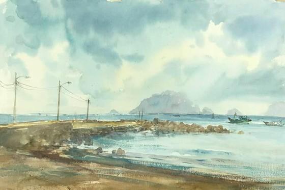 Côn Đảo thiêng liêng, sống động trong tranh màu nước  ảnh 7