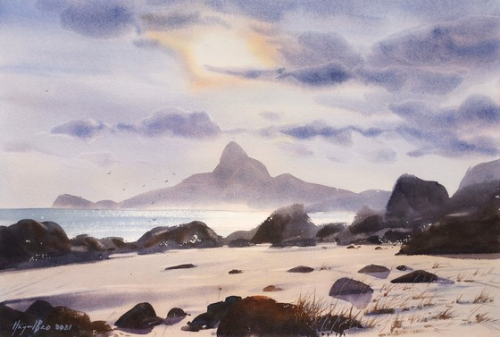 Côn Đảo thiêng liêng, sống động trong tranh màu nước  ảnh 10