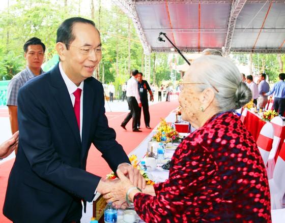 Chủ tịch nước Trần Đại Quang dự kỷ niệm 130 năm ngày sinh Chủ tịch Tôn Đức Thắng ảnh 3