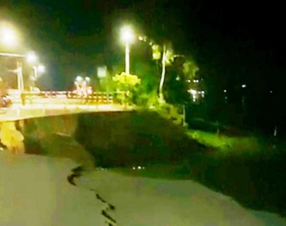 Lại tiếp tục sạt lở Quốc lộ 91 ở An Giang  ảnh 1