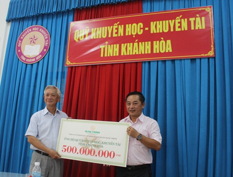 Hưng Thịnh hỗ trợ 500 triệu Hội Khuyến học Khánh Hòa ảnh 1