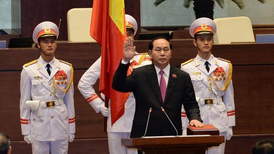 Chủ tịch nước Trần Đại Quang tuyên thệ nhậm chức ảnh 1