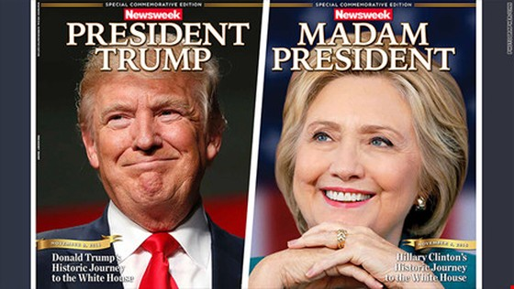 Báo làm trước bìa Clinton chiến thắng gây 'bão' ảnh 1