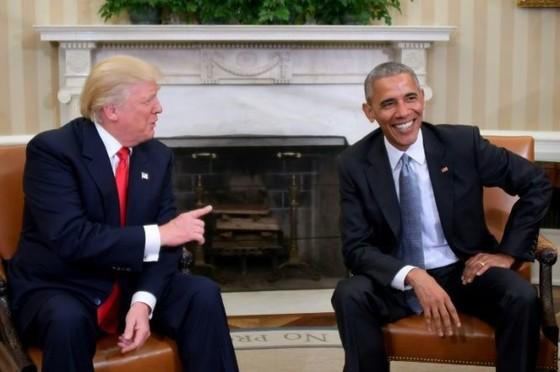 """Ông Obama """"trao đổi tuyệt vời"""" với ông Trump ảnh 1"""