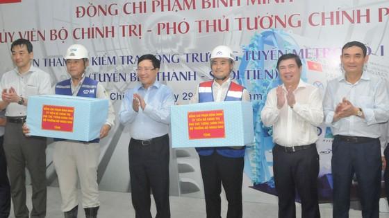 Phó Thủ tướng Phạm Bình Minh thị sát tiến độ thi công tuyến metro Bến Thành - Suối Tiên ảnh 6