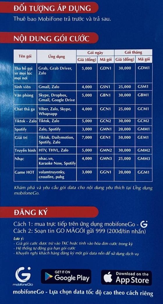 MobifoneGo, dịch vụ gói data 3G/4G tốc độ cao theo yêu cầu ảnh 3