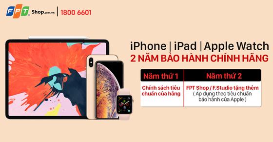 Tặng gấp đôi thời gian bảo hành khi mua sản phẩm Apple chính hãng tại FPT Shop ảnh 1