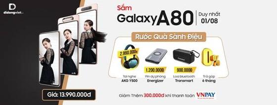 Galaxy A80 mở bán với giá chỉ 10,7 triệu, duy nhất ngày 1-8 tại Di Động Việt ảnh 1