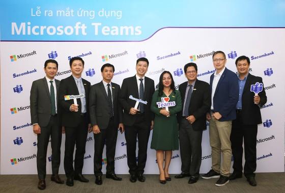 Sacombank  ứng dụng Microsoft Teams số hóa môi trường làm việc ảnh 1