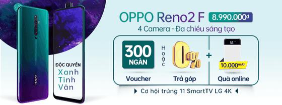 OPPO Reno2 F Xanh Tinh Vân bán độc quyền tại Thế Giới Di Động ảnh 4