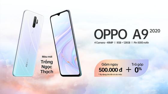 OPPO A9 2020 trắng ngọc thạch lên kệ với nhiều ưu đãi hấp dẫn ảnh 5