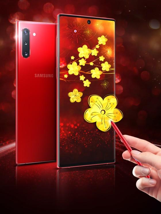 Galaxy Note10+ thêm màu Xanh Aura và Đỏ Aura  ảnh 1