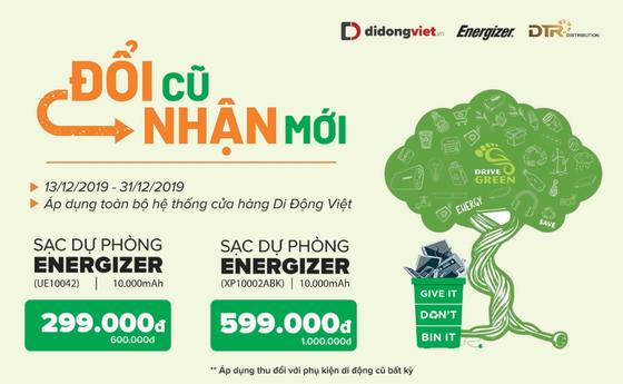 Thu phụ kiện cũ, đổi sạc dự phòng Energizer để bảo vệ môi trường cùng Di Động Việt ảnh 1