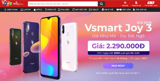 12.000 điện thoại Vsmart Joy3 đã được bán ra sau 14 giờ lên kệ ảnh 1