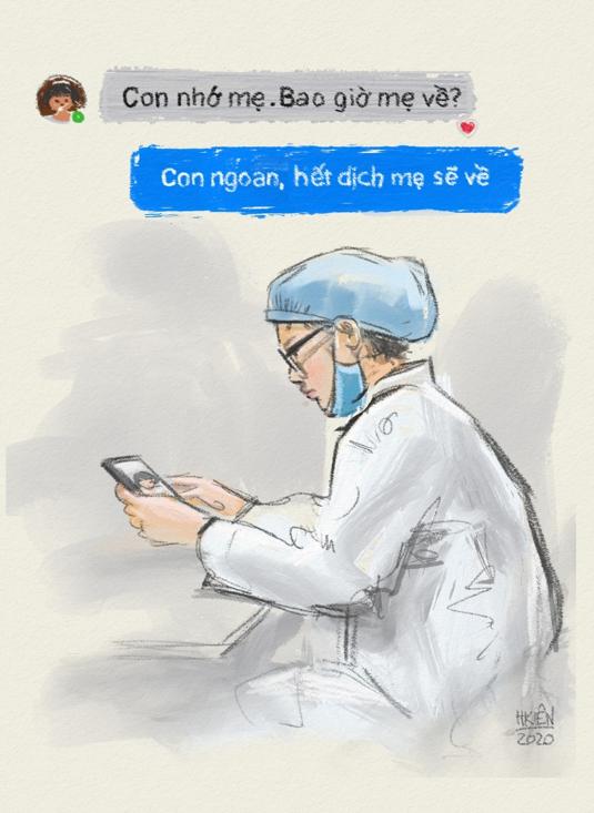 Cộng đồng mạng lan tỏa những bức tranh 'Ở nhà an toàn, cảm ơn bác sĩ' ảnh 1