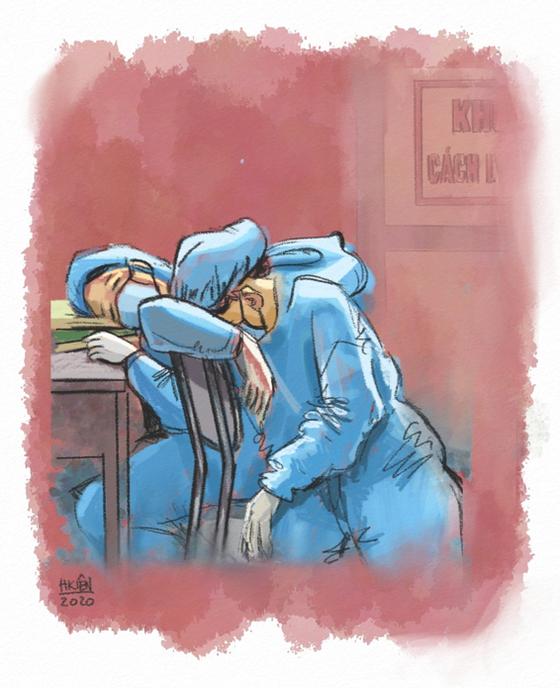 Cộng đồng mạng lan tỏa những bức tranh 'Ở nhà an toàn, cảm ơn bác sĩ' ảnh 2