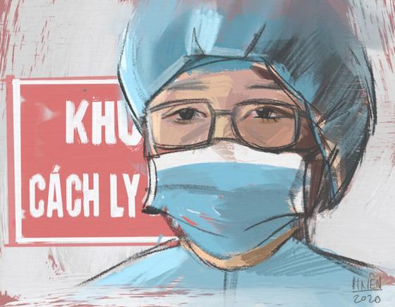 Cộng đồng mạng lan tỏa những bức tranh 'Ở nhà an toàn, cảm ơn bác sĩ' ảnh 3