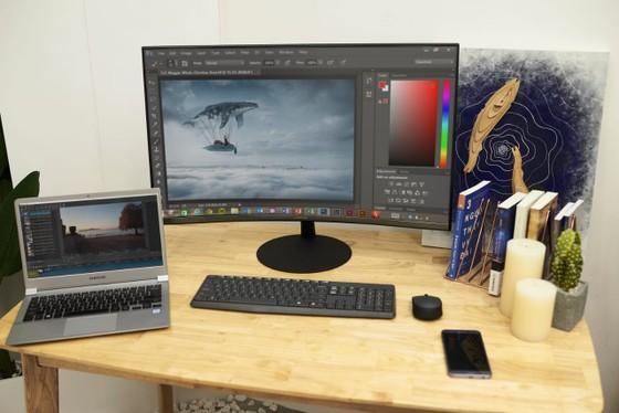 Samsung giới thiệu màn hình T55 với độ cong 1000R ảnh 2