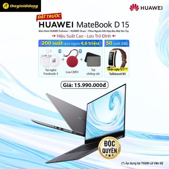 HUAWEI MateBook D15: Màn hình tràn viền, phím nguồn tích hợp dấu vân tay ảnh 6