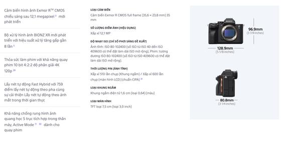 Sony Alpha 7S III giá gần 83 triệu đồng ảnh 3