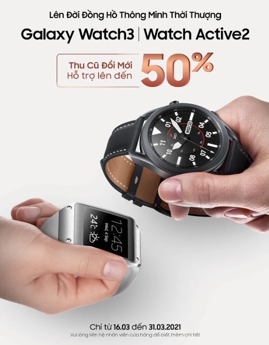 Samsung thu cũ đổi mới Galaxy Watch ảnh 1