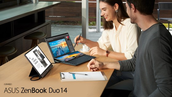 ZenBook Duo 14 UX482 laptop có thiết kế 2 màn hình  ảnh 1