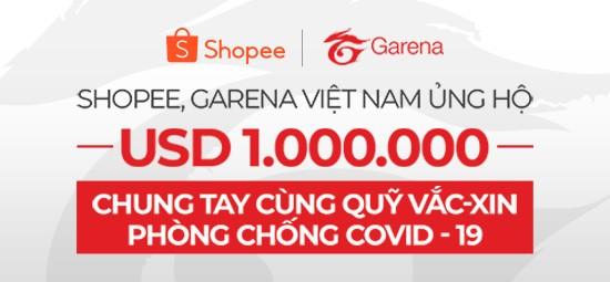 Shopee và Garena Việt Nam chung tay ủng hộ Quỹ vaccine phòng Covid-19 ảnh 1