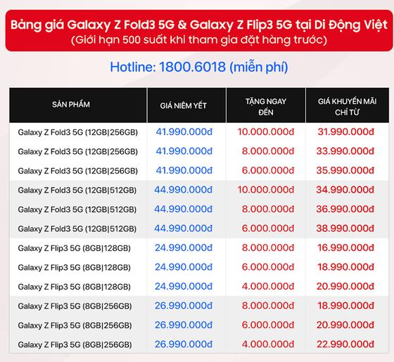 Đặt hàng Galaxy Z Fold3 và Z Flip3 được tặng đến 10 triệu đồng ảnh 1