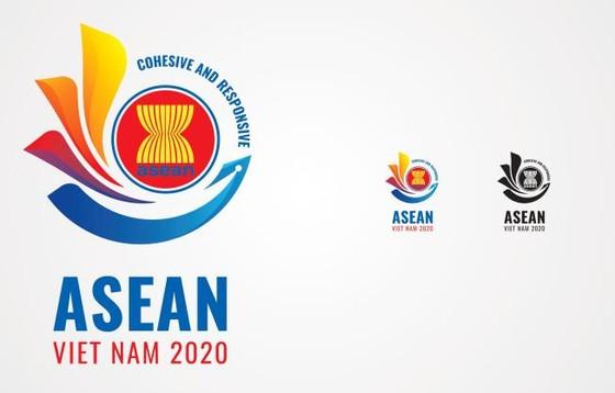 Logo Năm ASEAN 2020 có hình hoa sen cách điệu ảnh 1