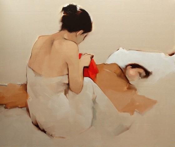 Ấm áp đến tan chảy với những bức họa Mẹ và con của Nguyễn Thanh Bình ảnh 4