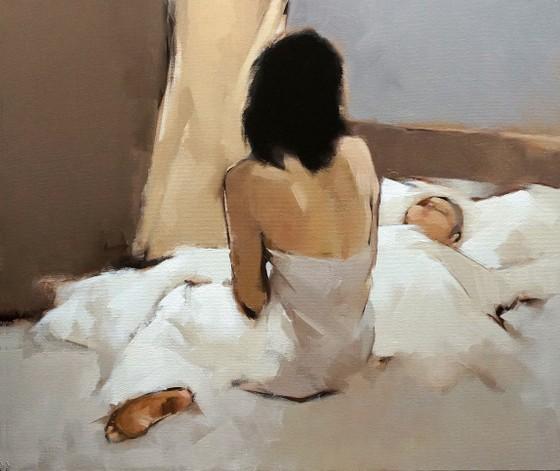 Ấm áp đến tan chảy với những bức họa Mẹ và con của Nguyễn Thanh Bình ảnh 6