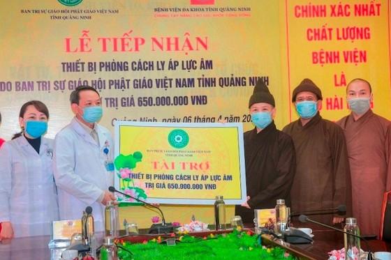 Phật giáo tỉnh Quảng Ninh ủng hộ 1,65 tỷ đồng phòng chống dịch Covid–19 ảnh 2