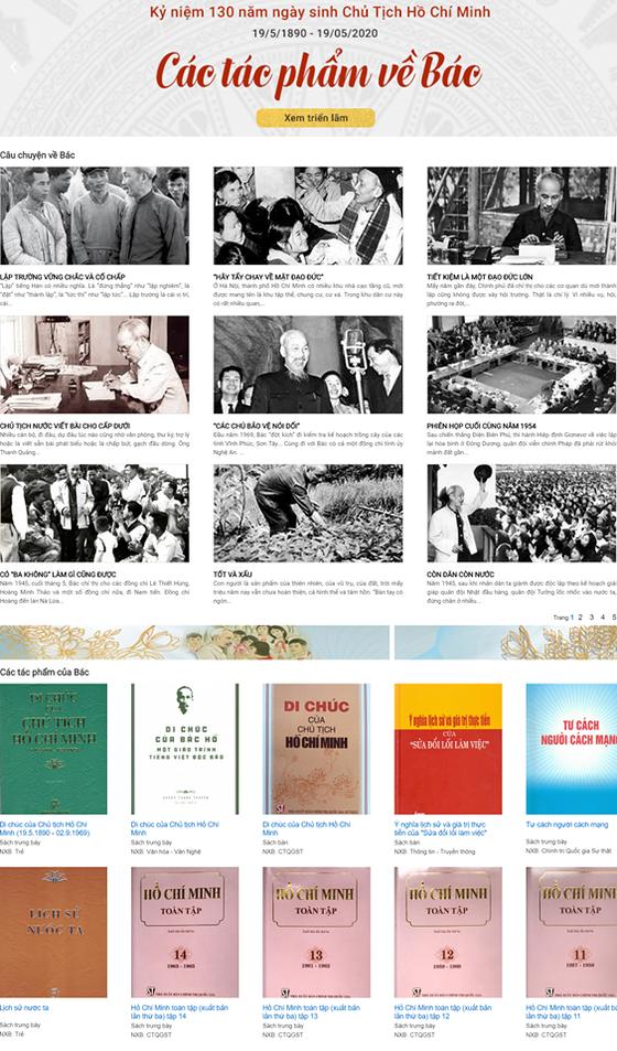 Trưng bày trực tuyến hơn 700 xuất bản phẩm, tư liệu về Chủ tịch Hồ Chí Minh ảnh 1