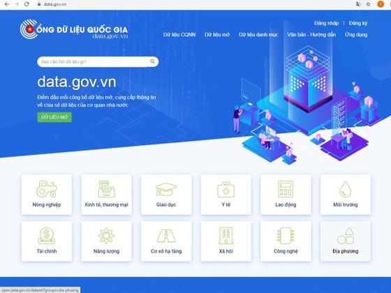 Ra mắt Cổng dữ liệu Quốc gia Data.gov.vn ảnh 1