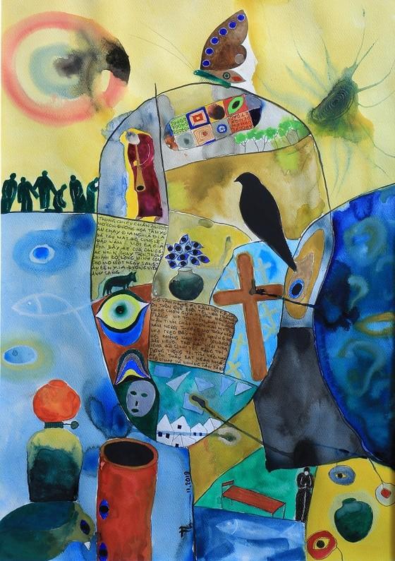 54 tác phẩm hội họa trong triển lãm cá nhân đầu tiên của Chủ tịch Hội Nhà văn ảnh 4