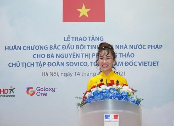 越南首位女企業家榮獲法國國家榮譽勳位勳章 ảnh 1