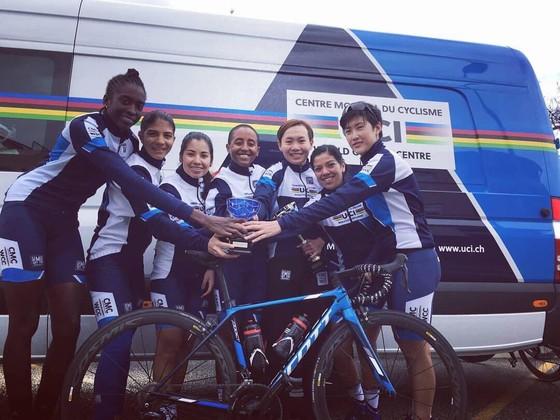 Nguyễn Thị Thật giành ngôi á quân giải xe đạp nữ nước Pháp ảnh 1