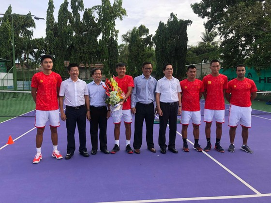 Lãnh đạo tỉnh Tây Ninh động viên đội tuyển quần vợt Việt Nam trước khi lên đường dự Davis Cup ảnh 1